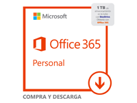 Microsoft Office 365 Personal - Subscription license (1 year) - 1 phone, 1 tablet, 1 PC/Mac, 1 TB cloud storage space